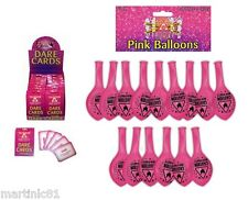 24 DARE CARDS+15 BALLOONS HEN DO PARTY HENS NIGHT OUT ACCESSORIES CARDS GIRLS