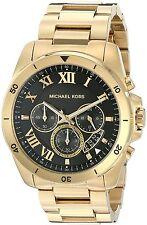 Michael Kors Men's MK8481 Brecken Chronograph Black Dial Gold-Tone Steel Watch