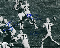 PACKERS Bob Skoronski Ken Bowman S Wright signed 8x10 photo JSA AUTO Autographed