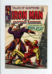 TALES OF SUSPENSE #97 - HIGH GRADE - 1st Appearance of WHIPLASH - BLACK PANTHER