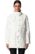 NEW BETTINA LIANO White Jeather Anorak Jacket Coat - 6 / 8 / 10 - Winter Warm
