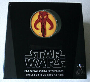 Star Wars Gentle Giant Mandalorian Logo Bookends Numbered Limited Edition