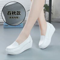 Female soft bottom nurse shoes work shoes high slope with single shoes