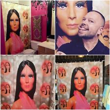 Shower Curtain 70's Mego Cher  Sonny and Cher Show