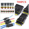 708Pcs 1/2/3/4/5/6-Pin Electrical Wire Cable Connector Terminal Plug Kit For Car