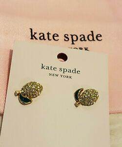 NEW KATE SPADE LEMON PICNIC EARRINGS YELLOW STUDS PAIR GIFT DESIGNER SOLD OUT