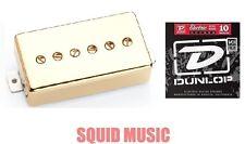 Seymour Duncan SPH90-1N Phat Cat Gold Cover Neck Humbucker ( SET OF STRINGS )