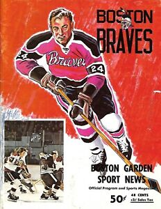 1972-73 Boston Braves-Nighthawks Program AHL Battle at Garden NICE!!