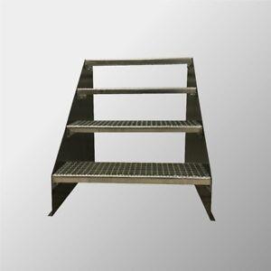 4-stufige Stahltreppe freistehend / Standtreppe Breite 70cm Höhe 84cm Anthrazit