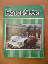 Motor Sport Magazine F1 Sports Road & Historic Cars Issue June 1979 Classic
