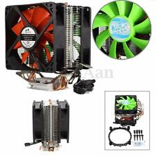 Dual Fan CPU Cooling Cooler Heatsink For Intel LGA775/1156/1155 AMD AM2/AM2+/AM3