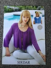 "Sirdar Flirt DK Knitting Pattern 9271 Ladies Cardigan 24""-46"" (3076)"