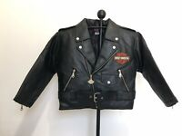 Old Stock Harley Davidson Youth Pleather Lined Motorcycle Jacket S, M, L, XL