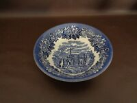 "English Ironstone 6-1/2"" Cereal Bowl Coaching Scene (Cat.#8A034)"