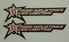 "RIGID LIGHTING 2 STICKERS DECALS 2.5X7"" RACING ""FREE SHIPPING"" offroad atv koh"