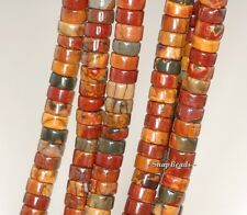 PICASSO JASPER GEMSTONE GRADE AAA BROWN HEISHI 6X3MM LOOSE BEADS 15.5""