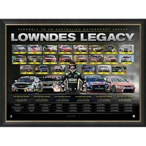 "Craig Lowndes Triple Eight Official V8 ""Lowndes Legacy"" Retirement Print Framed"
