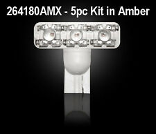 Recon 194 Type 1-Watt High Power L.E.D. Bulbs In Amber - 5pc Kit # 264180AMX
