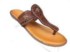 01be6b2d29967f MARBELLA SANDALS WOMEN S Brown Thong Flats Flip Flop Size 8 ...
