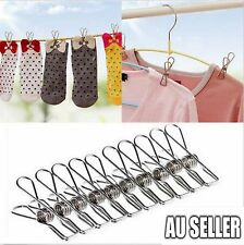 20 Pcs Stainless Steel Clothes Pegs Hanging Clips Pins Laundry Windproof Clamp
