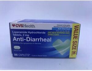 CVS Health Anti-Diarrheal 2mg Tablets 96Caplets Exp 8/2021