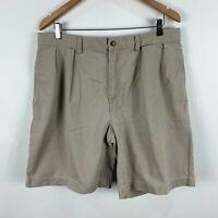 Ralph Lauren Mens Shorts 36 Beige Zip Closure Pockets Bermuda