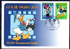 FRANCE FDC - 3642 + 3643 4 FETE DU TIMBRE DISNEY- Lyon 6 Mars 2004 CARTE LUXE
