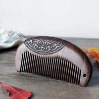 brosse à cheveux barbe care peigne en bois massage du cuir chevelu coiffure