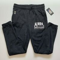 NBA Logo Mens Casual Sweatpants Trackies Black Size M Athletic Sports Gym