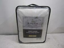 Royal Luxe White Goose Feather And Down Over Filled Comforter In White, King