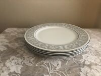 "Set Of 4 Imperial China Whitney by W. Dalton 5671 10 3/8"" Dinner Plates"