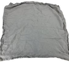 Fieldcrest Linen Gray Euro Sham Pillow Case Square Large