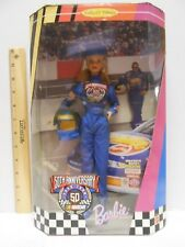 1998 Mattel Barbie Nascar 50th Anniversary Collector Edition Doll Mib Nrfb 20442