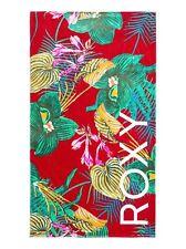 NWT Roxy Beach Towel Hazy Red Tropical Surf Logo Beach Hawaii Surf