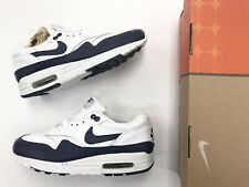 first rate 04344 57ed2 Vintage 2003 Nike Air Max 1 Midnight Navy White Size 7.5 Men Leather Shoes