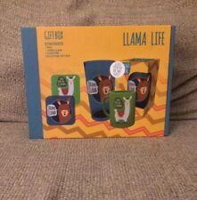 Llama Life Gift Box (Mug/Glass/Coasters) New/Sealed