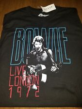 PacSun David Bowie 1972 Live in London Black T-Shirt - Brand New w/ Tag