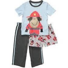 Schlafanzug~USA~Carter's~3 tlg.~92-98~Pyjama~Nachtwäsche~Affe~lang~kurz~Neu