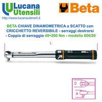 BETA CHIAVE DINAMOMETRICA 606/20 CRICCHETTO REVERSIBILE a SCATTO 40-200 Nm 1/2