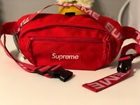 Brand New Supreme Red Waist/Shoulder Bag Fanny Pack for Women & Men Unisex