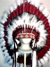 Native American THUNDER HORSE Feather Headdress War Bonnet