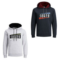 Jack & Jones Core Hoodie Mens Chest Logo Print Hooded Sweater L/S Sweatshirt