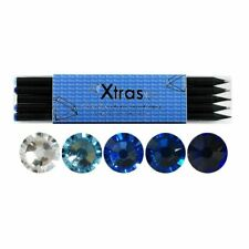 NEW-5 Piece Crystal Pencil Set - Made with SWAROVSKI Elements - BLUE