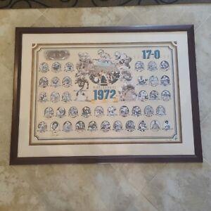 1972 Miami Dolphins Perfect Season Lithograph