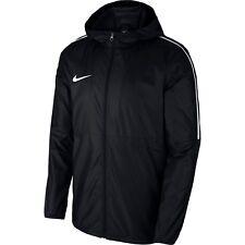 Nike Mens Dry Park18 Football Rain Coat Jacket Hoodie Waterproof Windproof Black