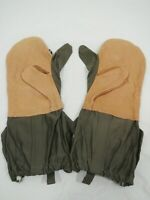 Military Cold Weather Hunting Skiing Snow Mitten Leather Gloves & Liner Large