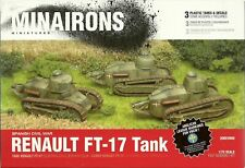 Minairons Miniatures 1/72 Renault FT-17  (3 Fast Assembly Tanks)