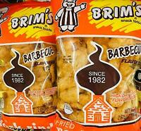 2Pk Brim's Hickory BBQ Chicharrones Pork Rinds Skins ~* FAST FREE SHIPPING ! *~