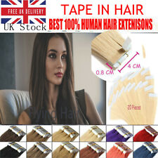 14''-24'' Tape in Thick Glue  Premium 100% Real Human Hair Extensions UK Stock