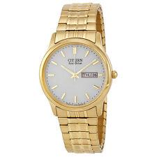 Citizen Mens Bracelet Eco Drive Flexible Band Gold-tone Watch BM8452-99P